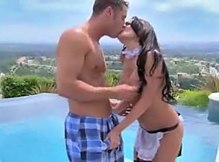 Kissing Maid Outdoor