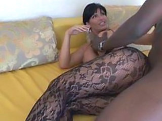 Interracial MILF Pantyhose