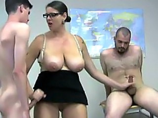 Glasses Handjob Natural Upskirt