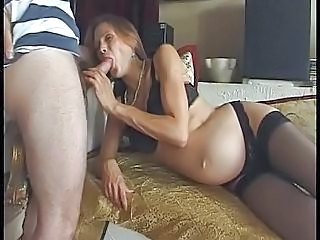 Blowjob French Pregnant Stockings
