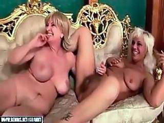 Two Grannies And Hot Young(18+) Blonde