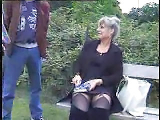 Amateur Granny Outdoor Upskirt