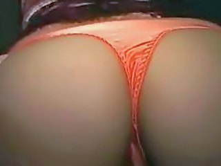 Girl in a thong gets cumshot in her asshole
