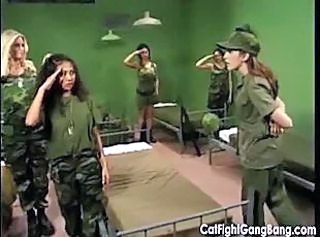 Catfight Gangbang in the Army