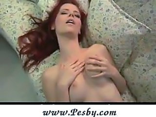 First-time redhead has incredible climax