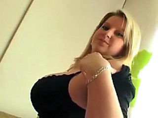 Huge boobs Janne Hollan striptease