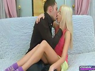 Skinny teen blonde gets a facial