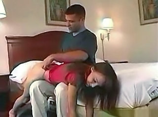 Naughty Charlie Laine spanked and boned