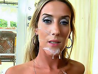 Cumshot Facial Cute Skinny