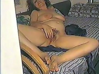 Hairy  Masturbating Mature Voyeur