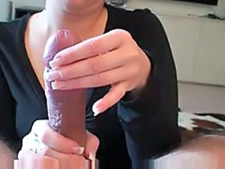 Milf makes perfect handjob for dude rod