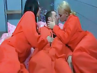 Prisoners in the cell having big cock sex