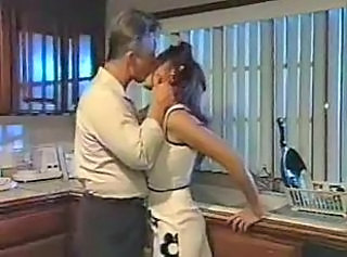 His hot housewife is fucked right in the kitchen