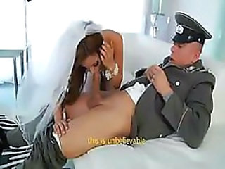 Army Blowjob Bride Clothed Hardcore Uniform