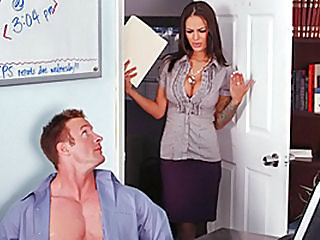 Lucky Boss Fucks Bigtits Office