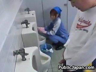 Asian Maid Public Toilet