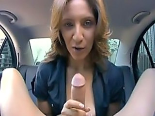 Sexy MILF gets fucked in a car!