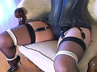 "Bondage with sexy stockings and high heels (black 6inch pumps)"" target=""_blank"