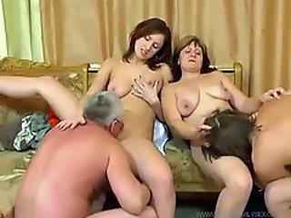 Pure Russian family sex action, they are swingers