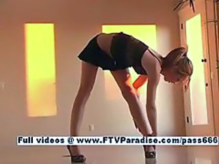 Kymberly from ftv girls, amazing blonde teen masturbating and dancing