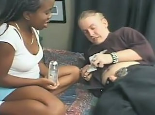 Cute Ebony Interracial Midget Threesome