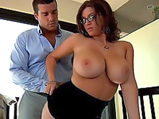 Big Tits Bus Glasses MILF
