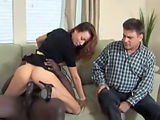 Layla Rivera fucks black cock in front of her cuckold