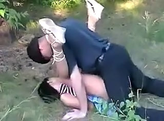 She gets brutally fucked outdoors