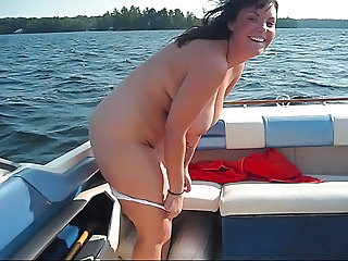BBW Big Tits Brunette MILF Outdoor
