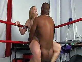 Big boobed round girl Sara Jay gets nailed hard in the boxing ring