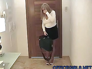 Chubby Wife Dressed Like A Slut In Miniskirt  & Ff Stockings