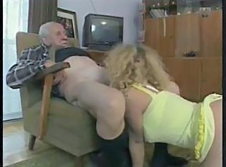 Blonde Blowjob Lingerie Older