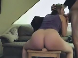 Rideing Dildo And Sucking Cock
