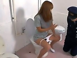 Asian Facesitting Japanese Prison Toilet Uniform