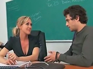 Amazing Babe Blonde Teacher