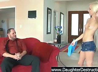 Very cute teen daughter ass destroyd by old man