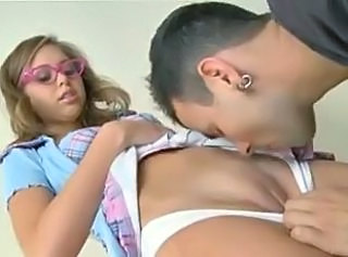 Glasses Pussy Shaved Squirt