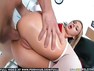 Big-breasted Nurse Bree Olson Checks Out Horny Patient's Sperm