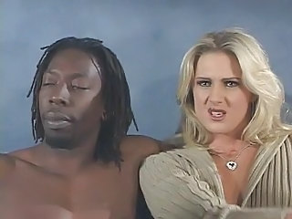 Amazing Babe Blonde Interracial Pornstar