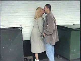 Blonde Kissing Outdoor
