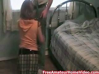 Amateur Bedroom Blowjob Clothed Homemade