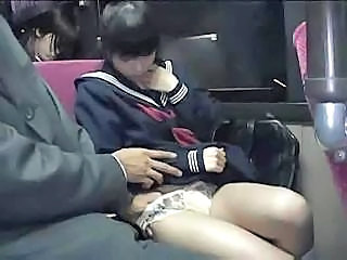 Sweet Asian schoolgirl is easy to...