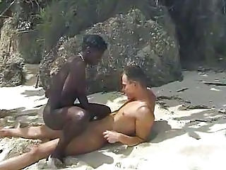 Beach Sex With Sandy Black Babe