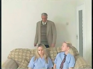 Blonde British Old and Young Spanking