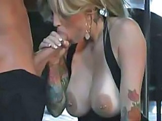 Big cock Big Tits Blowjob Piercing Tattoo