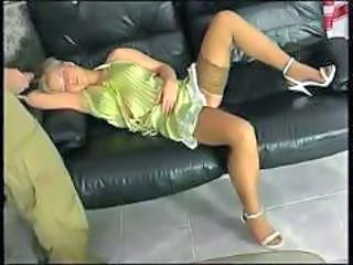 Blonde teen taboo abuse by elder brother in stockings
