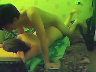 Couple having fun on webcam