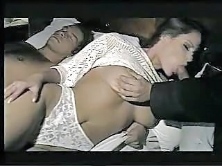 wife gets fucked in all holes while husband is sleeping