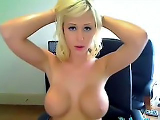 Amateur Amazing Big Tits Blonde Dancing Homemade Solo Webcam