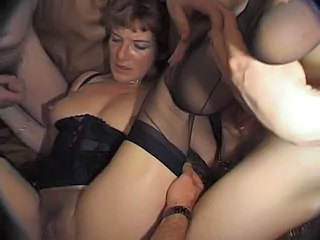 Granny Takes on Five Cocks